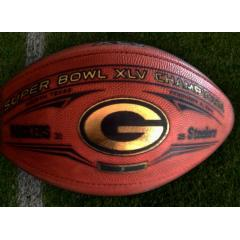 Green Bay Packers Super Bowl XLV Champs Authentic Wilson Football