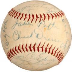 1952 Brooklyn Dodgers Autographed Baseball