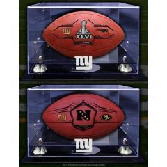SB XLVI Giants v Patriots Deluxe 2 Ball Set with Custom Logo Cases