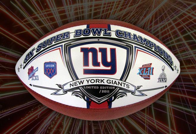 0ba37fe2d BigTimeBats.com - NY Giants 4 Time Super Bowl Champions Football