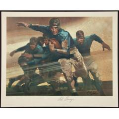 Red Grange Signed Lithograph