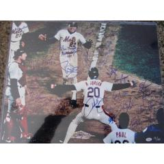 '86 Mets Team Signed Framed Photograph