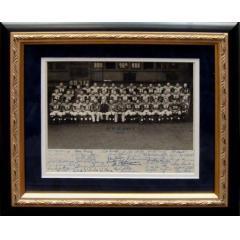 1952 New York Football Giants Signed Team Photograph