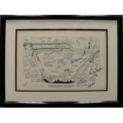 Ebbets Field Framed Photo - 17 Signatures