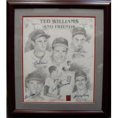 """Ted Williams and Friends"" Autographed Picture"