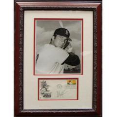 Carl Yastrzemski Signed Baseball Centennial Envelope and Photo