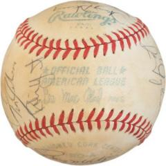 1980 Brewers Signed Baseball