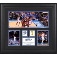 OKC Thunder First NBA Finals Game 1 Framed Photo Collage