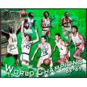 1969 Celtics Player Signed Champions Framed Photograph