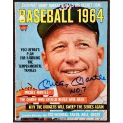 """Mickey Mantle Signed Vintage Issue """"Baseball 1964"""""""