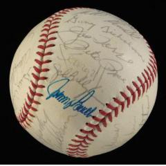 1973 NL All Star Team Signed Ball