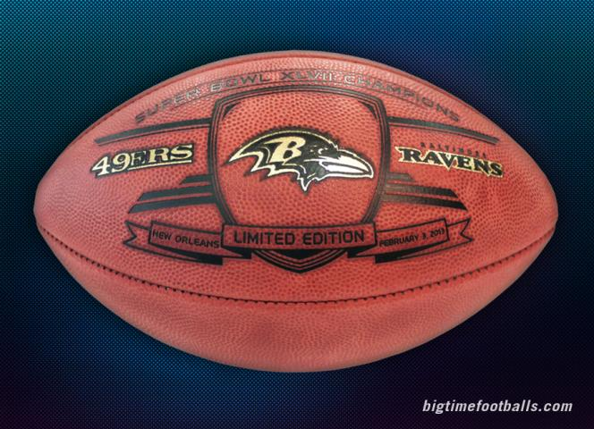 BigTimeBats.com - Ravens Super Bowl XLVII Champs Commemorative Game Ball 92ea4418f