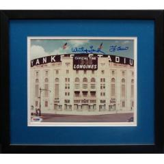 Old Yankee Stadium Photo Signed by Berra & Ford