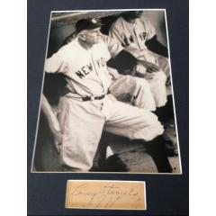 Casey Stengel Framed Photo & Cut Signature