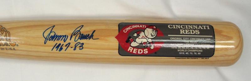 Johnny Bench Autographed Bat