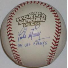 Pedro Martinzes Signed & Inscribed 2004 World Series Ball