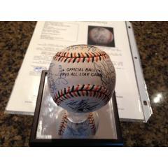 Signed Baseballl - 1993 All Star Game