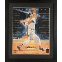 Ted Williams Signed Oversized Print
