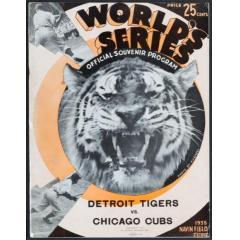 1935 Tigers v Cubs World Series Program
