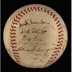 1937 Tigers Signed Baseball