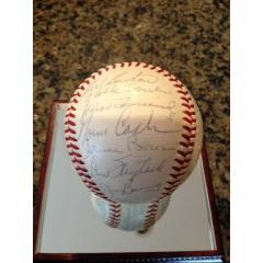 1961 Detroit Tigers Team Signed Baseball