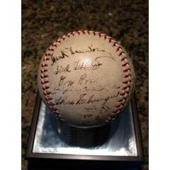 1937-38 Detroit Tigers Signed Baseball