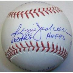 Reggie Jackson Signed Stat Ball