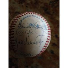 1993 Orioles Team Signed Ball