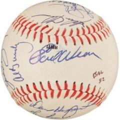 1982 Orioles Team Signed Ball - Ripken Rookie Season