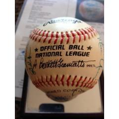 1987 LA Dodgers Team Signed Baseball
