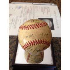 1950 NY Yankees World Series Champs Team Signed Ball