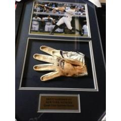 Brett Gardner Game Used Batting Glove Framed Presentation