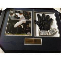 Alex Rodriguez Game Used Batting Glove Framed Presentation