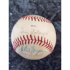 1975 Texas Rangers Team Signed Baseball