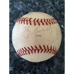 Stars and Hall of Famers Signed Baseball