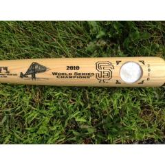 Giants 2010 WS Champs Bat with Walking Liberty US Mint Coin