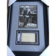 Mark Twain Framed Photo & Signature Presentation