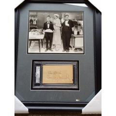 Rare Laurel and Hardy Framed Photo & Signature Presentation