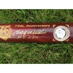 Exclusive - Billy Williams Signed 75th Anniv. Hall of Fame Coin Bat