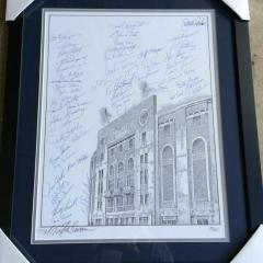 Yankee Stadium Print with 52 Yankees Signatures