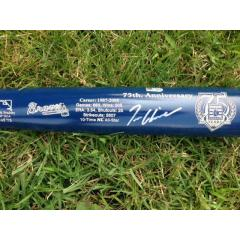 Tom Glavine Signed Hall of Fame Commemorative Tribute Bat