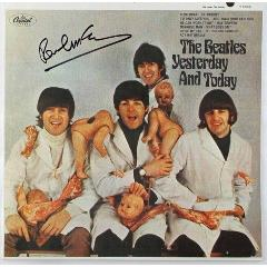 Paul McCartney Signed Butcher Album Cover
