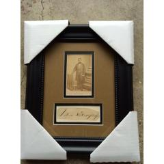 Circa 1860 - John Morrissey Photo & Cut Signature Presentation