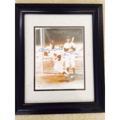 Mickey Mantle and Bill Dickey Signed & Framed Photo