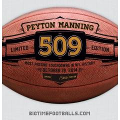 Peyton Manning TD Pass Record Commemorative Football