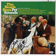 Framed Beach Boys Multi-Signed Pet Sounds Album