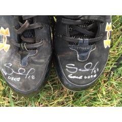 Pablo Sandoval Signed & Inscribed Game Used Cleats