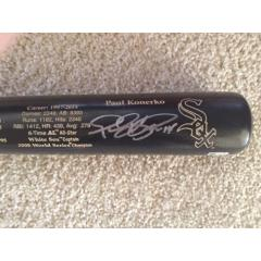 Paul Konerko Autographed Career Tribute Bat