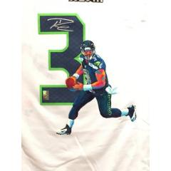 Russell Wilson Signed Hand Painted Jersey