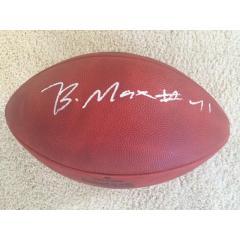 Byron Maxwell Autographed Seahawks Super Bowl XLVIII Champs Football